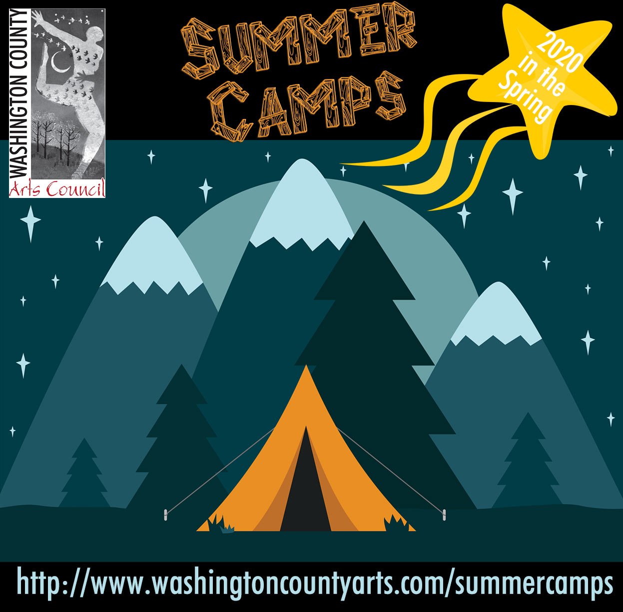 2020 Summer Camp Fall+ Winter Square Logo